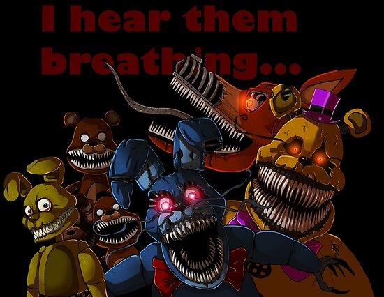 quotfnaf 4 nightmare animatronicsquot posters by ladyfiszi