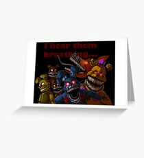 FNAF 4 Nightmare Animatronics Greeting Card
