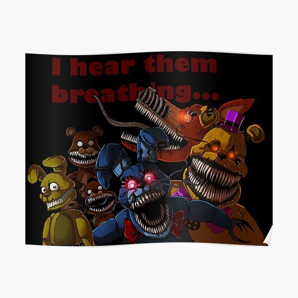 FNAF 4 Nightmare Animatronics Póster