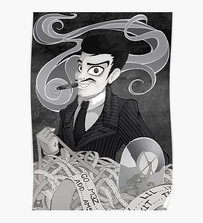 Gomez Addams- Black and White version Poster