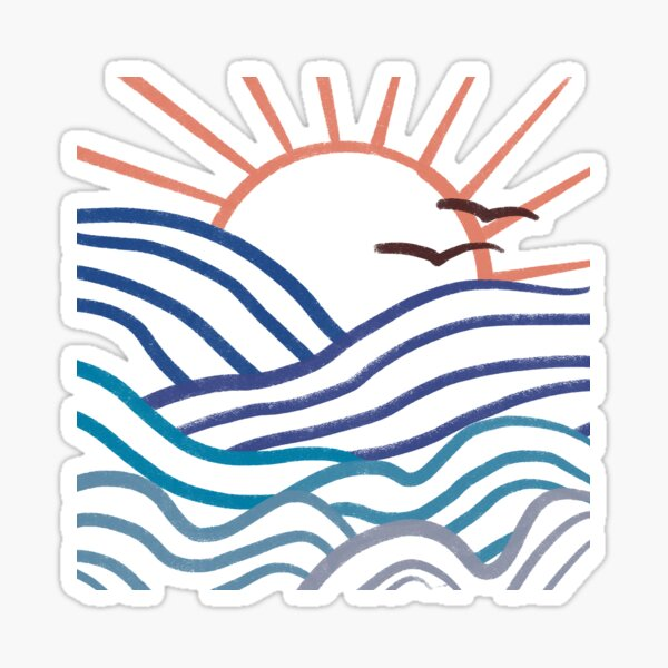 Ocean Doodle Sticker