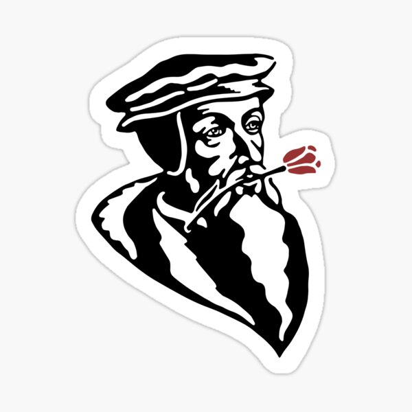 John Calvin With a Tulip Sticker