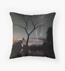 Comet Reflections Throw Pillow