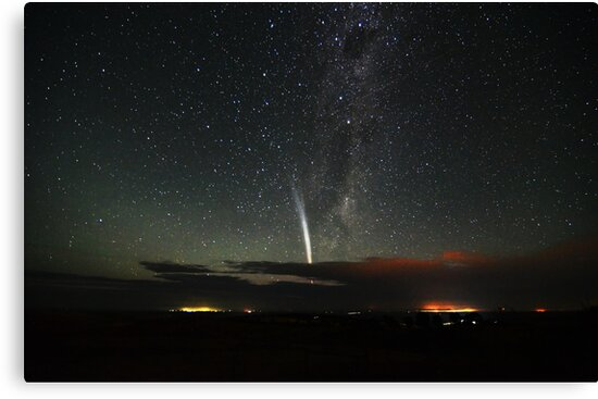 Comet Lovejoy over Mannum by Wayne England