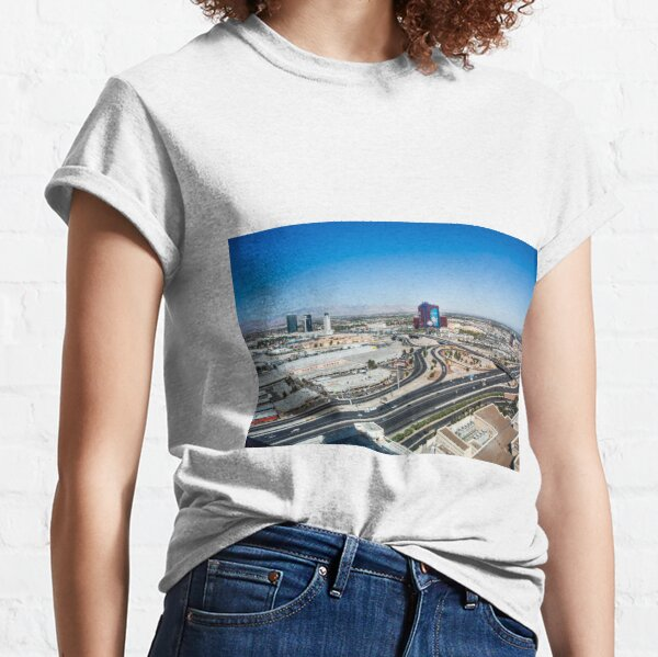 Las Vegas Cityscape as seen from the top of the Stratosphere Tower Classic T-Shirt