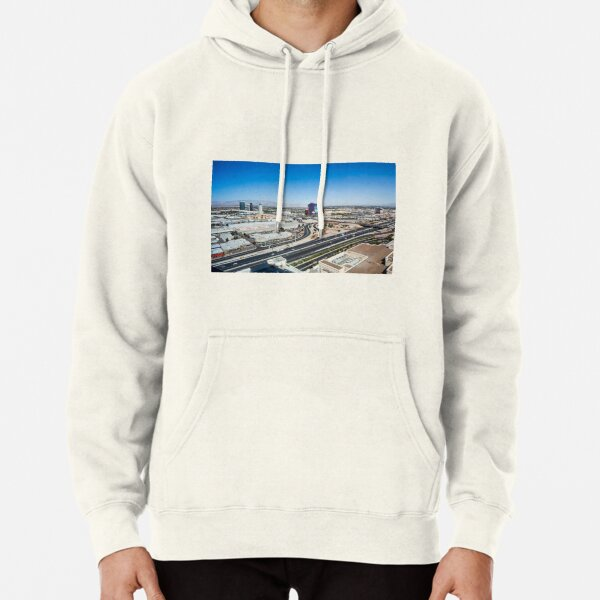 Las Vegas Cityscape as seen from the top of the Stratosphere Tower Pullover Hoodie