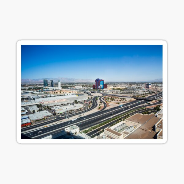 Las Vegas Cityscape as seen from the top of the Stratosphere Tower Sticker