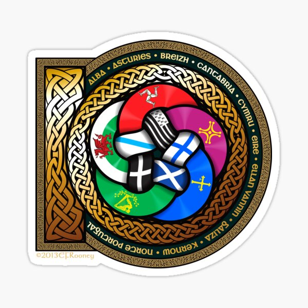 Ten Celtic Nations Sticker