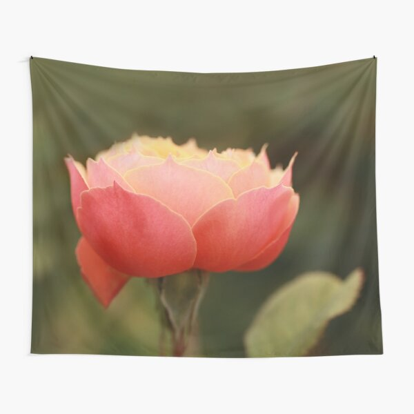 Coral & Pink Rose Tapestry