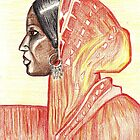 Indian Woman/ Original painting by Amit Grubstein by AmitArt