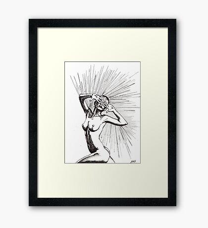 Hide&Seek/ORIGINAL PAINTING by Amit Grubstein Framed Print
