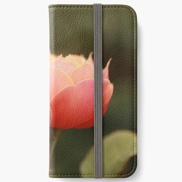 Coral & Pink Rose iPhone Wallet