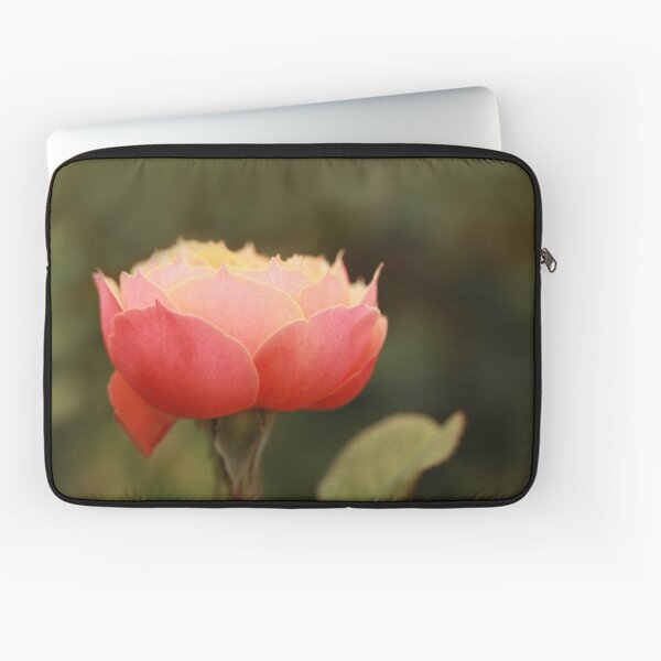 Coral & Pink Rose Laptop Sleeve