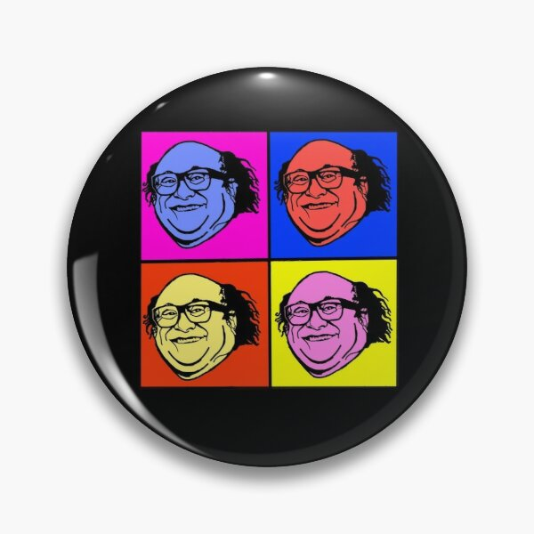 Danny DeVito Pop Art Pin