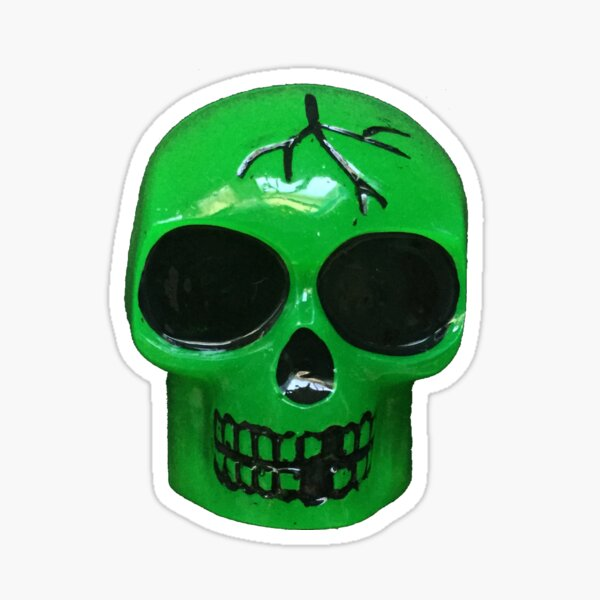 green skull Sticker