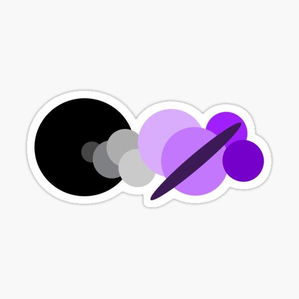Short Asexual Solar System Sticker  Sticker