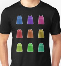 Rainbow Android Daleks T-Shirt