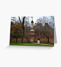 William and Mary Greeting Card