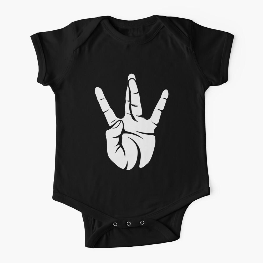 Westside West Coast Rap Hip Hop Hand Sign Baby One-Piece