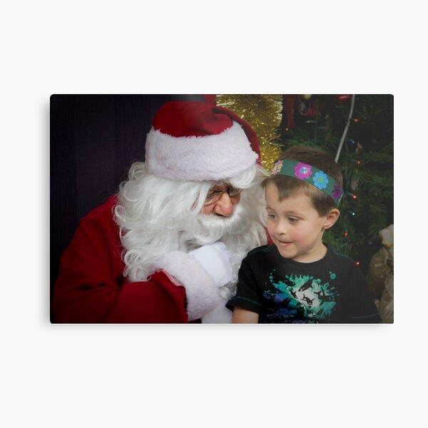 I mam Listening Santa Metal Print