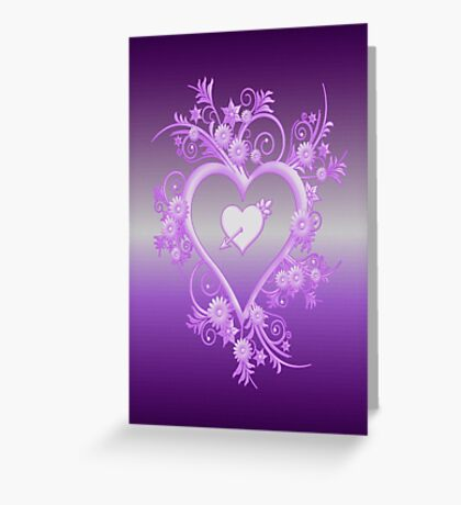 Lilac Heart Greeting Card