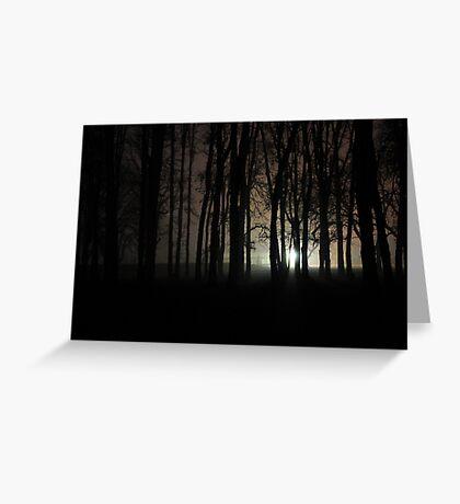 Nacht Bild ( night picture) Greeting Card