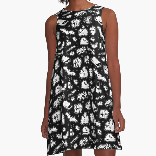 Witchy Things (Black) A-Line Dress
