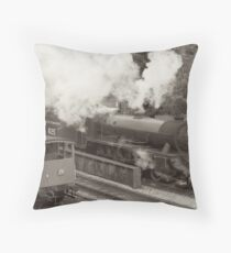 Leaving Goathland Station Throw Pillow