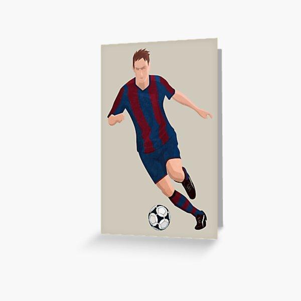 Virtual Soccer Player - BCN Team Greeting Card