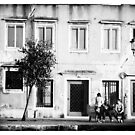 Venice Italy  People in front of old building by grorr76