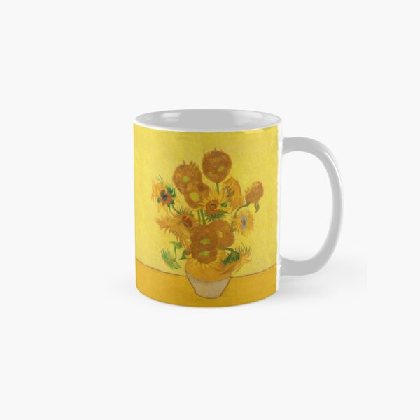 Vincent Van Gogh Sunflowers Famous Painting Yellow Sun Flowers HD Classic Mug