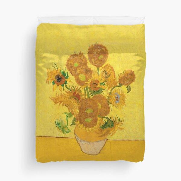 Vincent Van Gogh Sunflowers Famous Painting Yellow Sun Flowers HD Duvet Cover