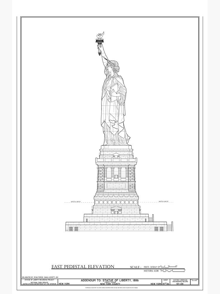 Statue of Liberty Blueprint  by BravuraMedia
