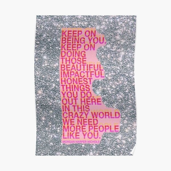 glitter vsco quote board Poster