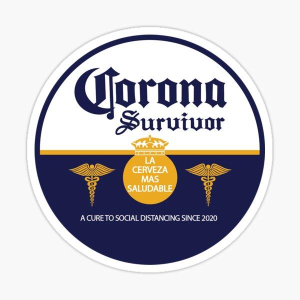 Corona Virus Survivor Sticker Circle Pegatina