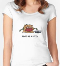 Arno the Tree Troll at Pizza Pass Women's Fitted Scoop T-Shirt