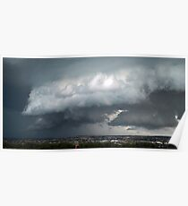Christmas Day Stormfront from Mt Ridley Poster