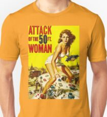 Attack of the 50ft Woman poster T-Shirt