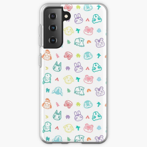 Villager Characters Animal Crossing New Horizons Pattern  Samsung Galaxy Soft Case