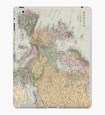 Vintage Map of Europe (1892) iPad Case/Skin