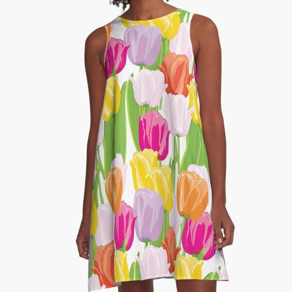 Tulips A-Line Dress