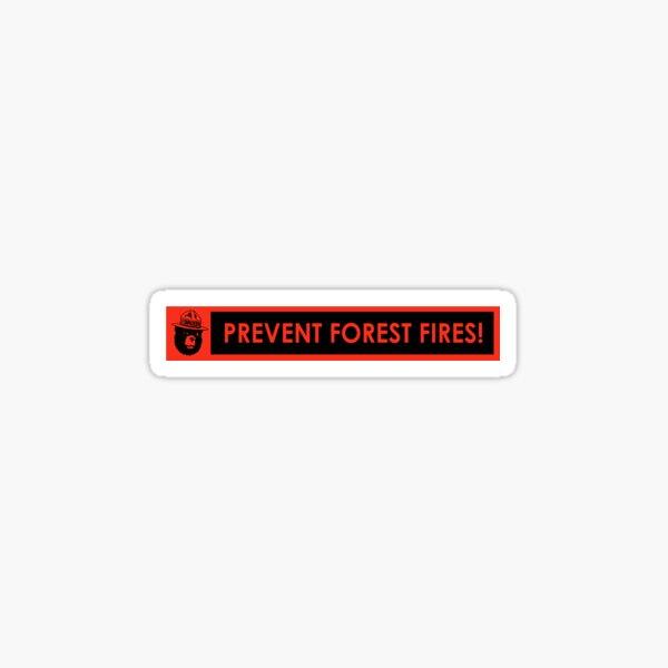 Smokey Bear Prevent Forest Fires Reproduction Bumper Sticker Sticker