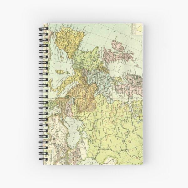 Vintage Map of Europe (1918) Spiral Notebook
