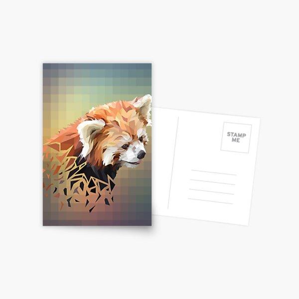 Low-Poly Red Panda Postcard