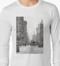 Camiseta de manga larga Vintage Fifth Avenue Photograph (1912)