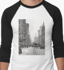 Camiseta ¾ bicolor para hombre Vintage Fifth Avenue Photograph (1912)