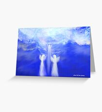 ANGELS TAKING THEIR LOVE ONES TO HEAVEN Greeting Card