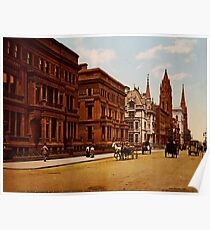 Póster Vintage Fifth Avenue NYC Photo-Print (1900)