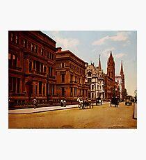 Lámina fotográfica Vintage Fifth Avenue NYC Photo-Print (1900)