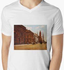 Camiseta para hombre de cuello en v Vintage Fifth Avenue NYC Photo-Print (1900)